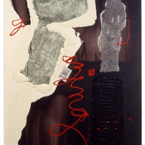 Deliverance, 1999, mixed media on canvas, 61x37½