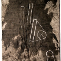 Nocturne VII, 2003, Acrylic and Modeling Paste on Asian Paper on Canvas