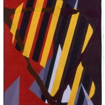 Geometric I, 1993, Acrylic on Canvas, 11½x8½