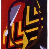 Geometric III, 1993, Acrylic on Canvas, 11½x8½